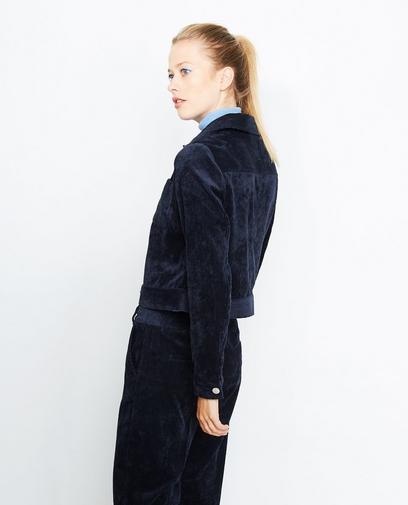 Ribfluweel jasje