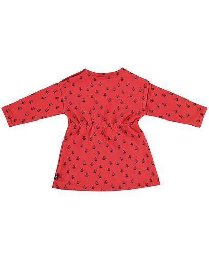 Baksteenrode jurk