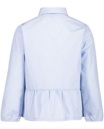 Lichtblauw gestreept hemd