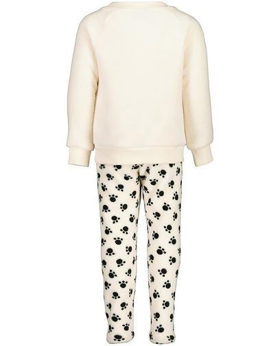 Roomwitte fleece pyjama