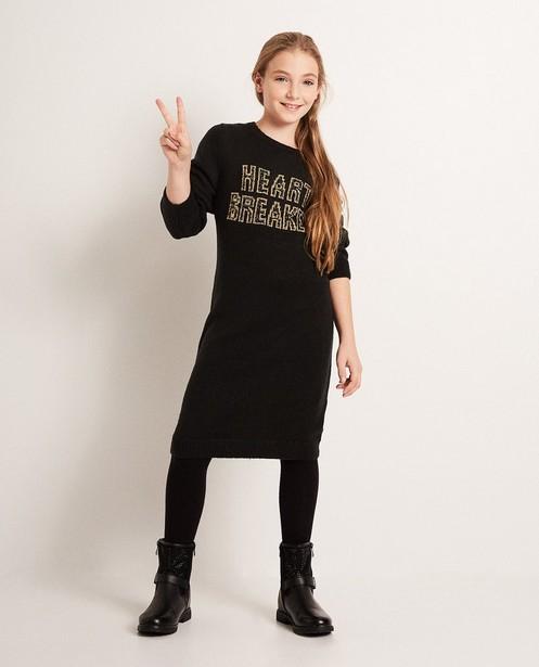 Kleid mit Aufschrift - in Schwarz, Katja Retsin - Katja Retsin