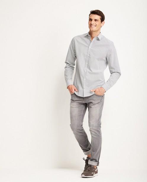 Lichtgrijze jeans slim fit Smith - wassing - JBC