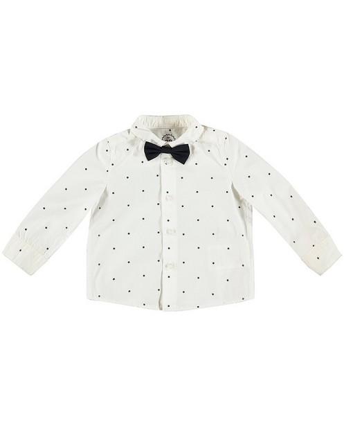 Weißes Hemd mit Fliege - mit durchgehendem Sternenprint - JBC
