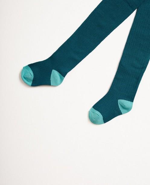 Blauwe kousenbroek - met ribpatroon - JBC