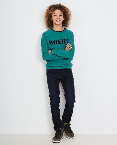 Turkooisblauwe sweater
