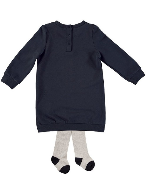 Ensembles - navy - Robe molletonnée+ collant