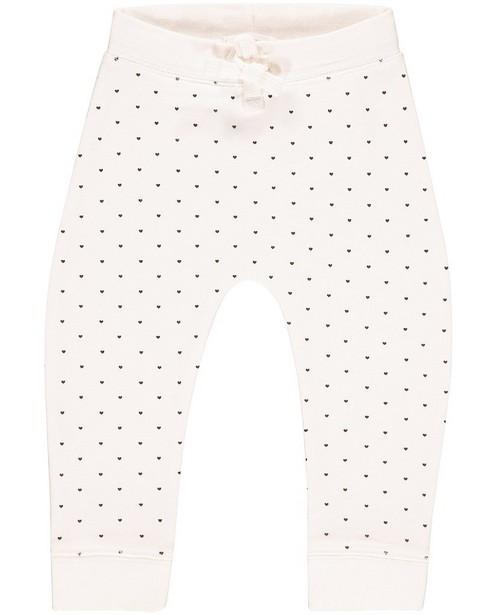 Pantalon molletonné - cœurs, coton bio - JBC