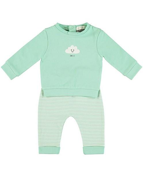 Set van sweater en meegroeibroekje - met strepenprint - Newborn