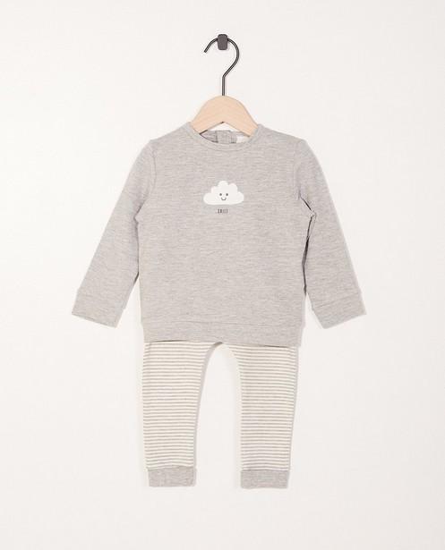 Set sweat et pantalon - imprimé de rayures - Newborn