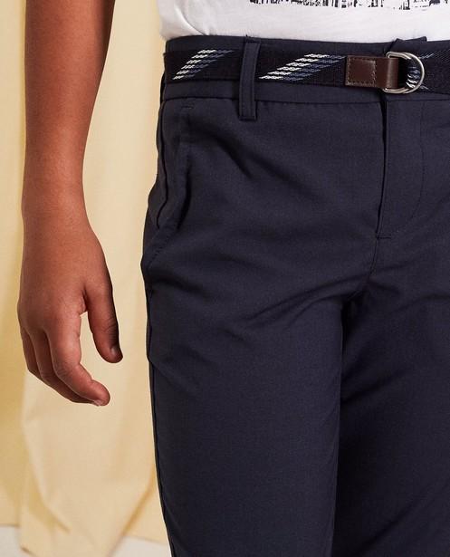 Pantalons - navy - Chino avec une ceinture communion