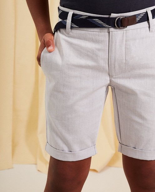 Shorts - light grey - Short chino avec ceinture communion
