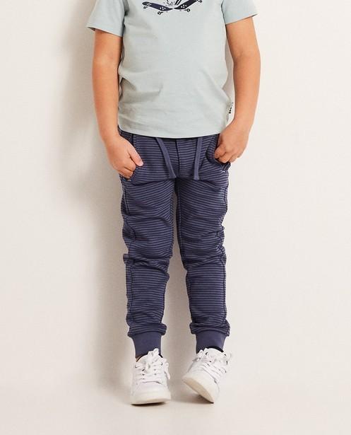 Pantalons - aqua - Pantalon molletonné rayé