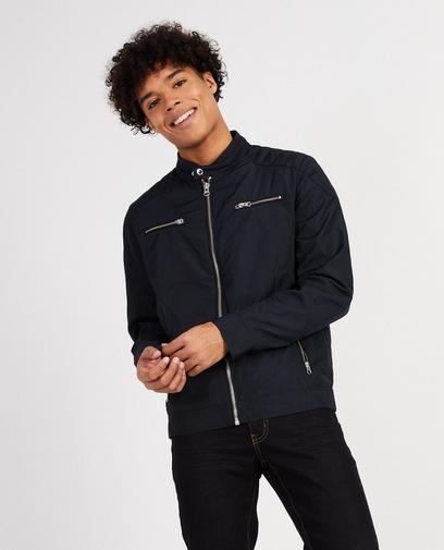 Donkerblauwe sportieve jas