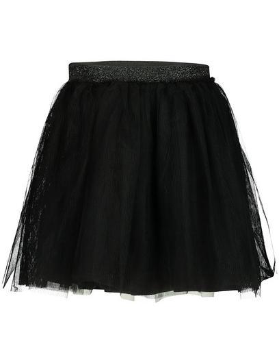 Zwarte tule rok