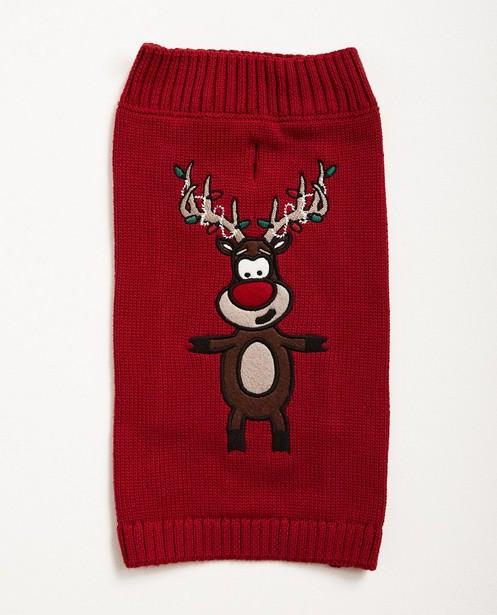 Kersttrui Mopshond.Rode Kersttrui