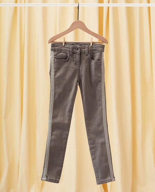 Jeans skinny MARIE communion - bande à paillettes - Milla Star