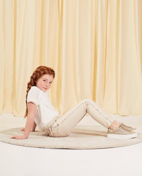 Jeans mit Glitzerprint Kommunion - mit Paillettenstreifen - Milla Star