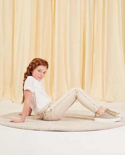 Jeans met glitterprint communie