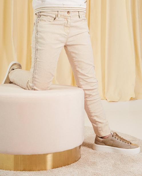 Hosen - Sand - Jeans mit Glitzerprint Kommunion