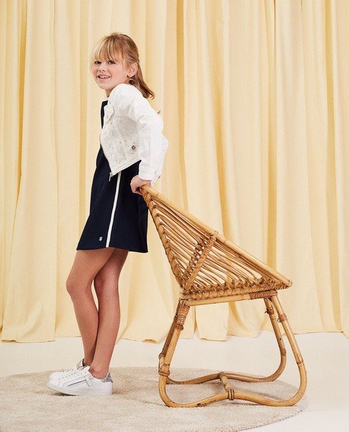 Jeansjacke mit Perlen Kommunion - kurzes Modell - Milla Star