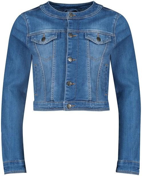 Blazer - Helltürkis - Jeansjacke mit Waschung Kommunion