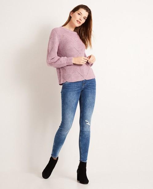 Destroyed skinny jeans FAYE - met wassing - JBC