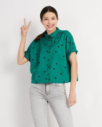 Cropped hemd met print