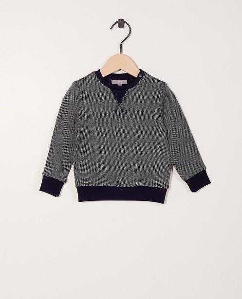 Fijngebreide trui met stippenprint - van katoen - JBC