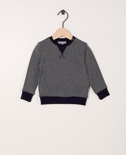 Pull à pois, fin tricot