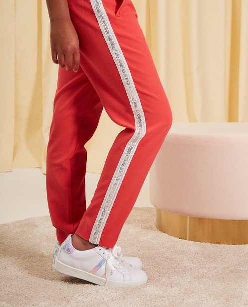 Pantalons - rood licht - Pantalon en viscose communion