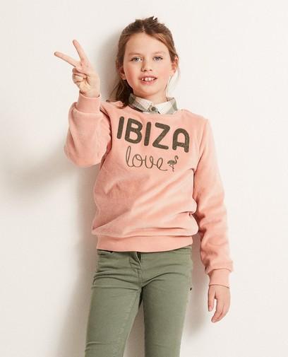 Nicki-Sweatshirt mit Aufschrift