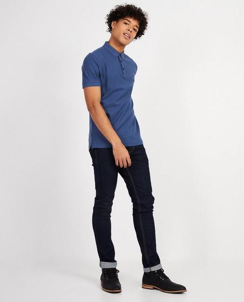 Polo met slim fit  - In donkerblauw - JBC