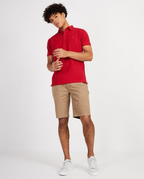 Polo met slim fit  - In rood - JBC