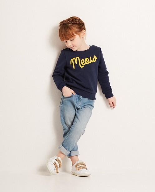 Sweater mit Bouclé-Aufschrift - aus einem Baumwollmix - JBC