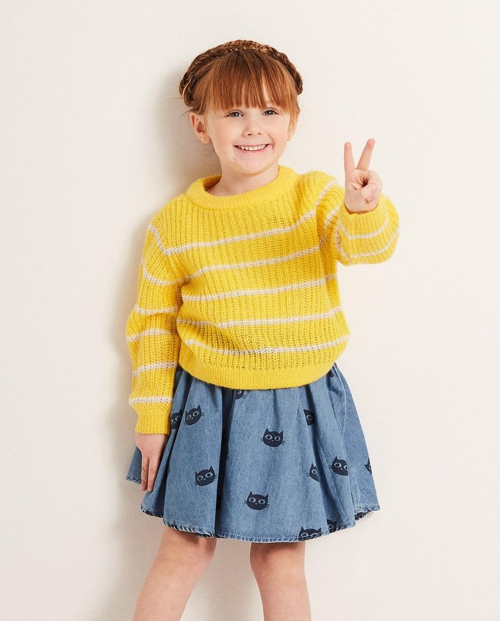 Pullover - AO1 - Gelbe Gestreifter Pullover