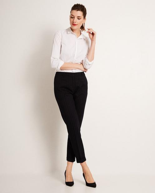 Pantalon fines rayures - en viscose mélangée - JBC