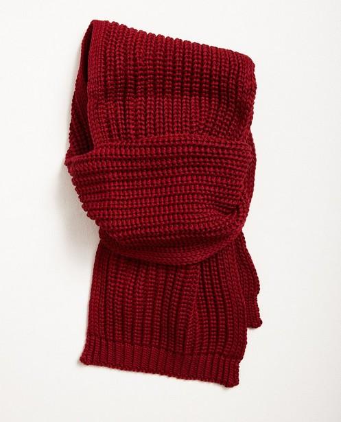 Geribde sjaal, 10-16 jaar - in donkerrood - JBC