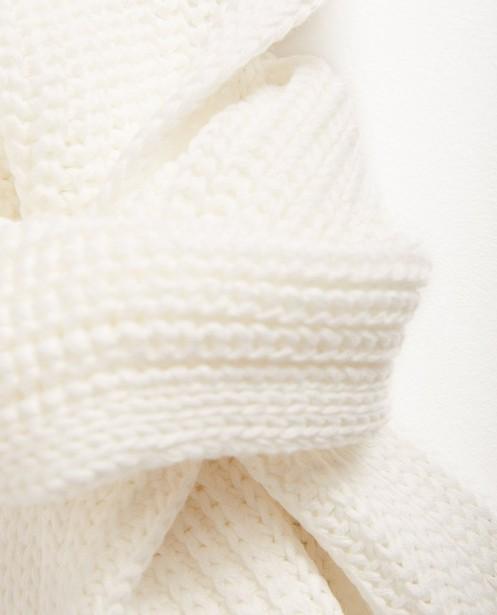 Bonneterie - white - Écharpe côtelée