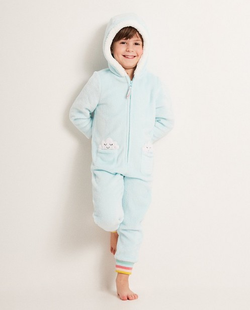 Onesie met wolkenprint - fleece - JBC