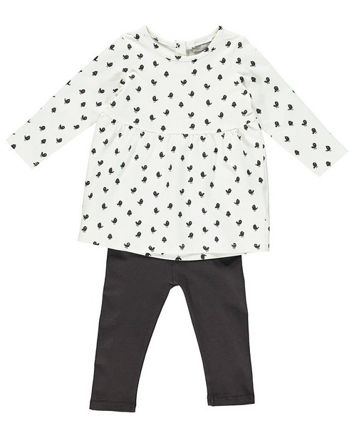 Ensemble robe et leggings - coton bio - Newborn
