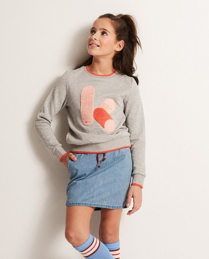 Sweater met bouclé print Ketnet