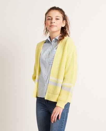 Color block vest van een luxe wolmix
