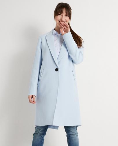 Lichtblauwe jas
