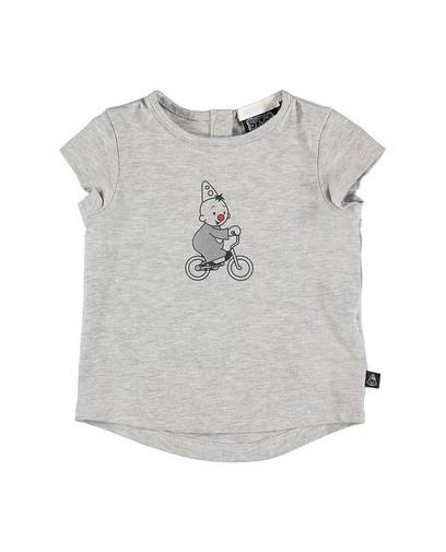 T-shirt met metallic print