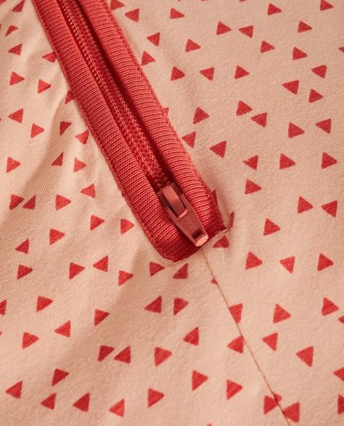 Accessoires pour bébés - AO1 - Sac de couchage rose en coton bio