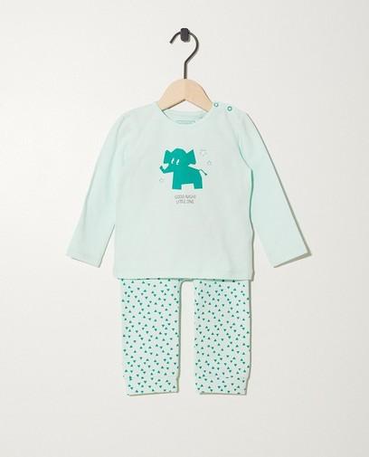 Pyjama vert pâle en coton bio