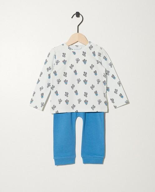 Lichtgroene pyjama van biokatoen - met print - JBC