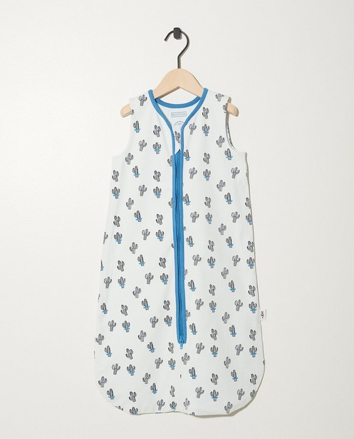 Sac de couchage blanc en coton bio - imprimé intégral - Newborn