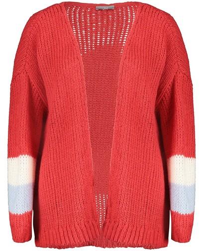 Color block vest van luxe wolmix