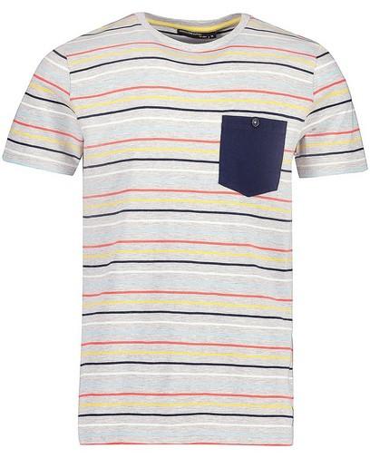 T-shirt met strepen van biokatoen I AM